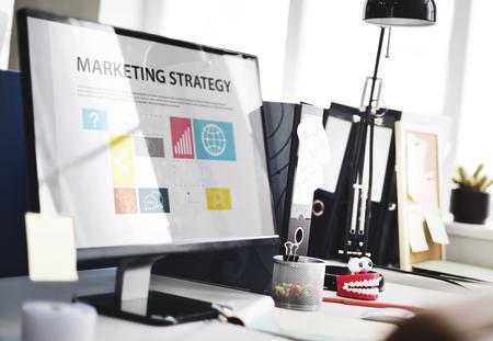 Concept de stratégie de planification de stratégie marketing Banque d'images