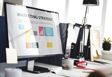 Marketing Strategy Planning Strategy Concept Banco de Imagens