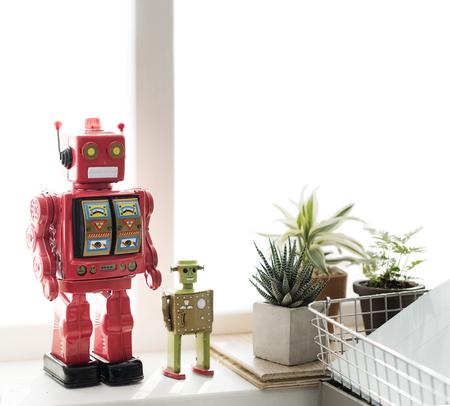 robot: Concepto de la ciencia de control del robot rob�tica Gadget Metal Objeto