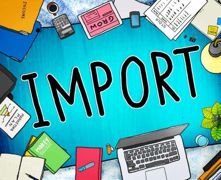 office stuff: Export Import Logistic Transportation Concept