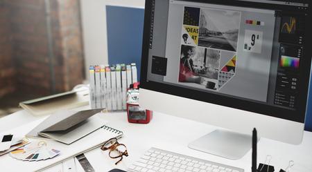 grafik: Design Studio Idee Kreativität Holzpalette Dekoration Konzept Lizenzfreie Bilder