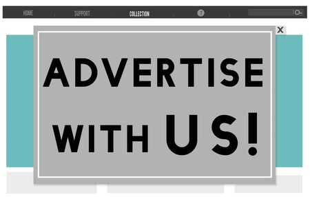 persuade: Advertise With Us Commercial Branding Persuade Concept