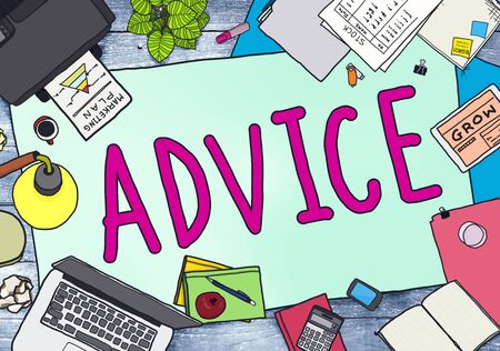 office stuff: Advice Advisor Consultant Support Assistance Concept Stock Photo