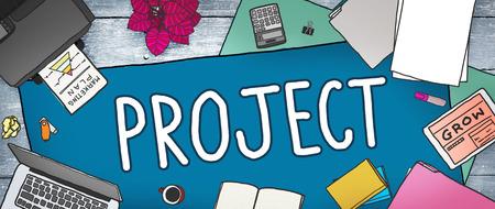 office stuff: Project Plan Strategy Venture Enterprise Concept Stock Photo