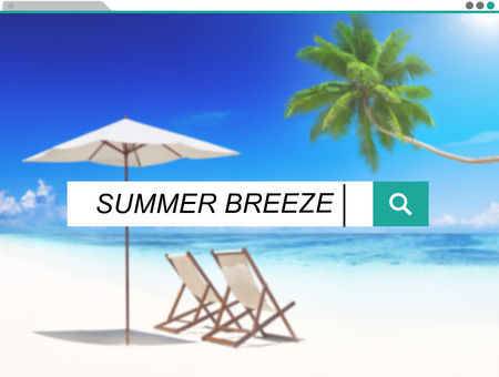 breeze: Summer Breeze Relaxation Holiday Happiness Fresh Concept