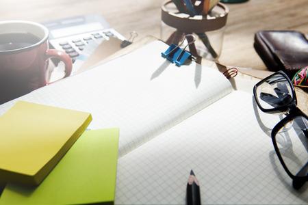 Stationery on a desk