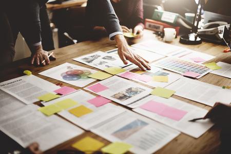 planung: Geschäftsleute Treffen Design Ideas-Konzept