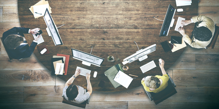 La gente de negocios Reunión de Trabajo Discusión concepto de oficina Foto de archivo - 52407475