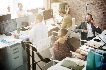Zakenmensen Meeting Discussie Working Office Concept