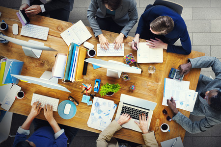 Meeting Seminar Conference brainstormen Business Concept Stockfoto