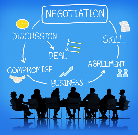 Negotiation Cooperation Discussion Collaboration Contract Concept Stock Photo - 52407992