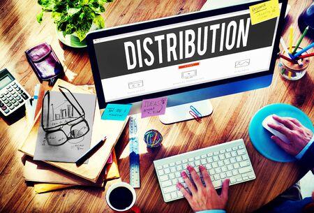 distributor: Distribution Sale Marketing Distributor Strategy Concept