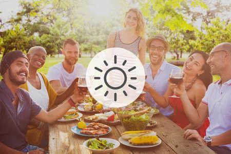 sky brunch: Sunshine Sunlight Sunny Summer Spring Vacation Concept Stock Photo