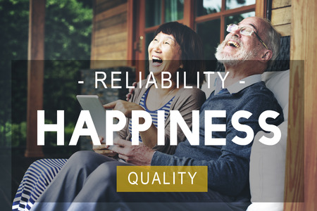 quality of life: Happiness Reliability Quality Life Living Concept Stock Photo