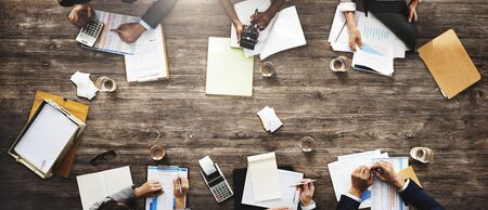 Zakenmensen Meeting Growth Success Target Economische Concept