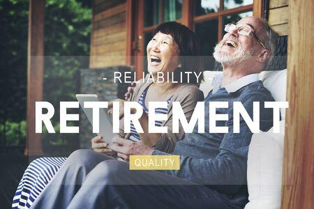 pension: Retirement savings Planning Pension Insurance Concept Stock Photo