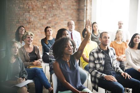 Team-Sitzung Seminar Trainingskonzept Standard-Bild