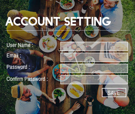log in: Account Setting Registration Password Log In Privacy Concept