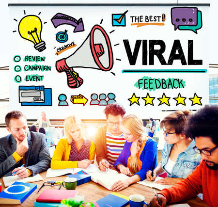 Viral Marketing Spread Review Event Feedback Concept Stock Photo