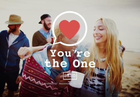 bebes niñas: Usted es el concepto de citas Una Pareja de San Valentín del corazón del amor