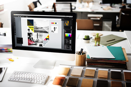 Tasarım Stüdyosu Yaratıcılık Fikirler Ahşap Palet Dekorasyon Konsept Stok Fotoğraf