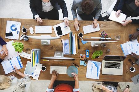 Negocios Trabajo en equipo Comunicación Lluvia de Concepto