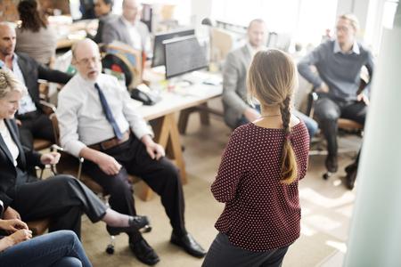 Reunião do seminário Office Working Corporate Leadership Concept