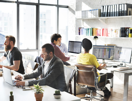 spread sheet: Corporate Business Team Working Busy Concept