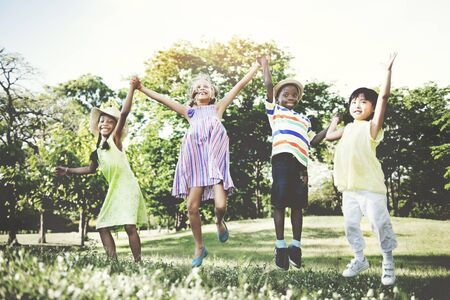 summer nature: Friendsship Happiness Togetherness Children Casual Concept