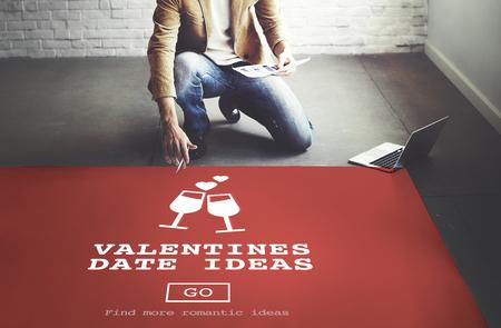 romance strategies: Valentines Date Ideas Romance Love Dating Toast Concept