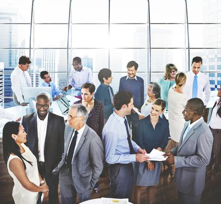 Business People comunicazione conversazione Parlare squadra Concetto