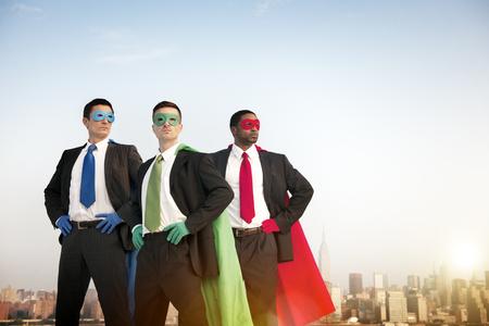 team building: Superhero Challenge Confidence Success Team Concept