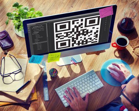 encryption: QR Code Encryption Interface Coding Concept