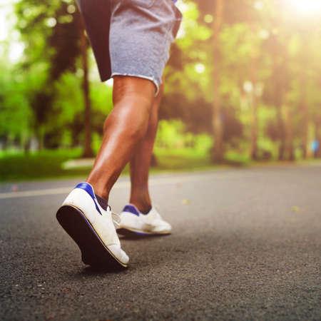 sportwoman: Sportman Sportwoman Podcast Playlist Athlete Concept Stock Photo