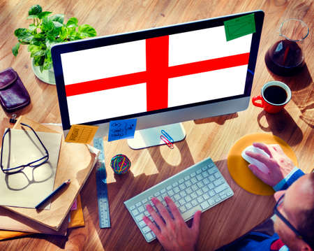 nationality: England Flag Country Nationality Liberty Concept Stock Photo