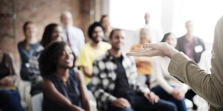 meetup: Presenation Seminar Group Listening Audience Concept