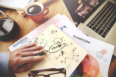 アイデア アイデア想像力イノベーション戦略ビジョン コンセプト 写真素材