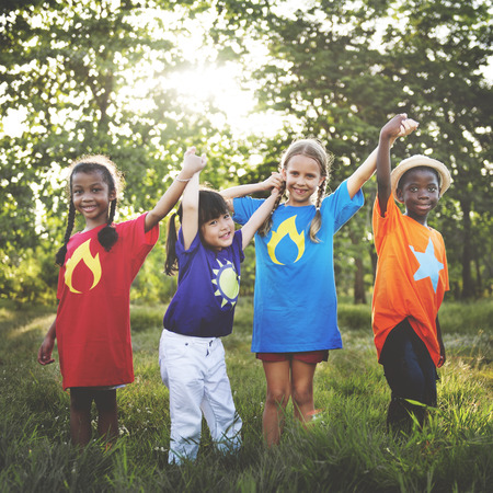 outdoor activities: Children Friendship Togetherness Smiling Happiness Concept