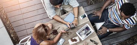 Conversación Ideas diseñador de interiores Reunión Concepto Trabajo en equipo Foto de archivo