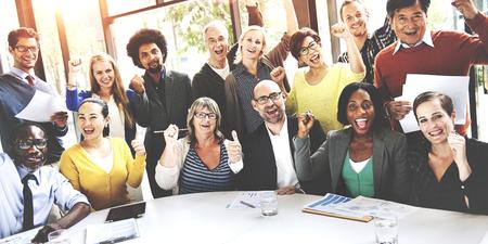 Business Team Success Achievement Arm Raised Concept Imagens