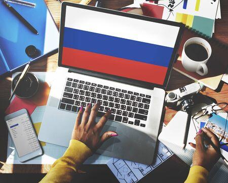 bandera rusia: Concepto Unidad bandera del orgullo Rusia Patriotismo Ruso