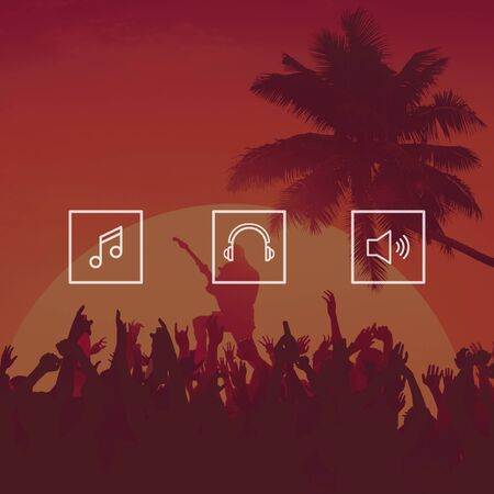 enjoyment: Music Festival Cheerful Enjoyment Party Concept