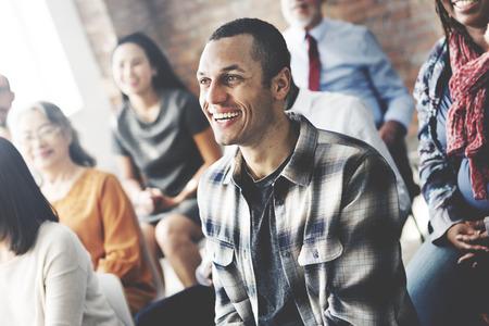 aprendizaje: Seminario corporativa colaboración concepto Equipos de la conferencia