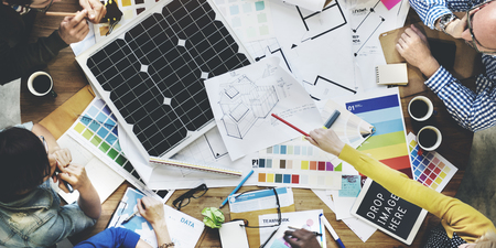Solarzellen-Energie Umwelt Generator-Konzept Standard-Bild