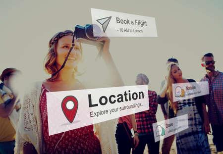destination: Location Journey Travel Destination Concept