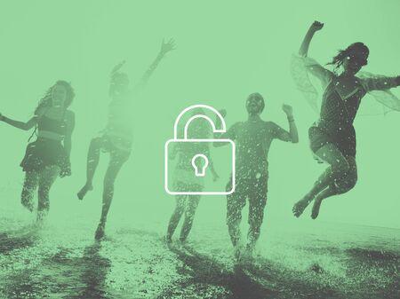 señales de seguridad: Desbloquear Freedeom gratuito Liberate Desbloqueado Concepto
