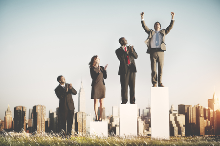 increase success: Business Team Leader Success Competition Corporate Concept