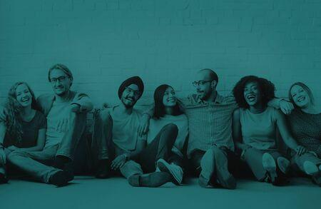 amicizia: Amici Support Team Unity concetto di amicizia Archivio Fotografico