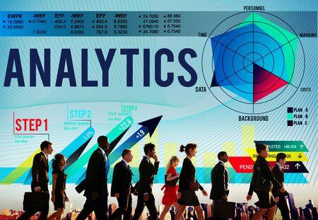consideration: Analytics Evaluation Consideration Analysis Planning Strategy Concept Stock Photo