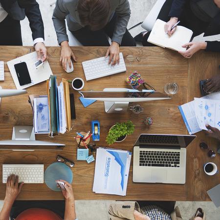 Réunion Business Collaboration Travail d'équipe Digital Concept Banque d'images - 52474502